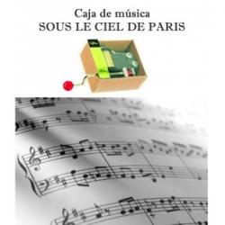 "Caja de música ""Sous le ciel de Paris"""