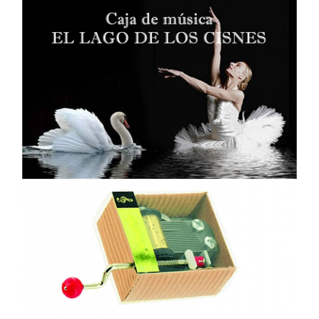 Caja de música El lago de los cisnes