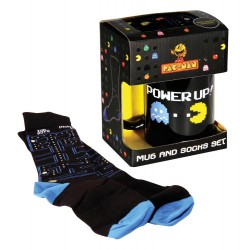 Set de taza y calcetines Pac-Man