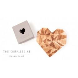 Puzzle corazón You Complete Me