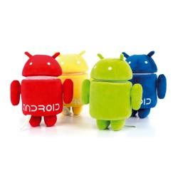 Peluche Andy Android 25 cm (verde, azul, rojo o amarillo)