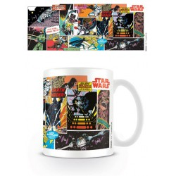 Taza Comic Panels Star Wars