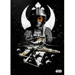 Póster metálico X-Wing Star Wars
