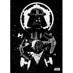 Póster metálico Darth Vader & TIE Advanced Star Wars