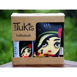 Pack mini cojín + taza Amy Winehouse