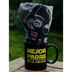 Pack Taza Mejor Padre + Camiseta Star Wars