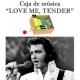 Caja de música Love me tender - Elvis Presley