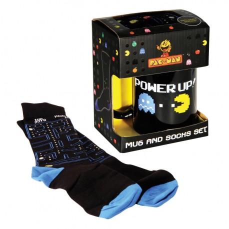 Set de taza y calcetines Pac-Man