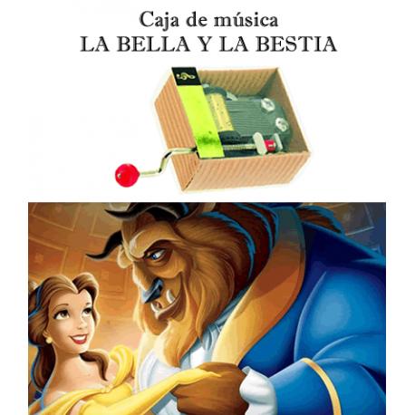 Caja de música La Bella y la Bestia