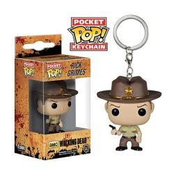 Llavero figura Rick Grimes The Walking Dead Pop! Funko