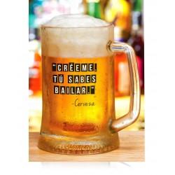 Jarra cerveza Bailar