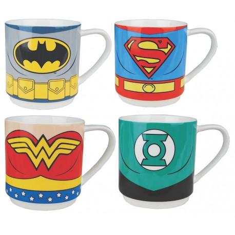 Pack de 4 mini tazas Justice League