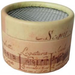 Caja cartón para mecanismo musical Partitura blanca