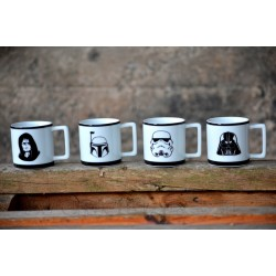 Set 4 minitazas Star Wars