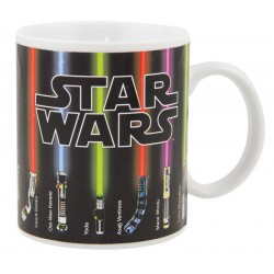 Taza espadas láser Star Wars sensitiva al calor