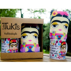 Pack mini cojín + taza Frida Kahlo