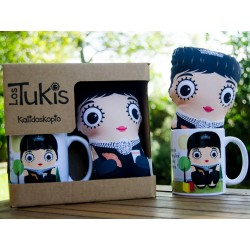 Pack mini cojín + taza Holly Golightly