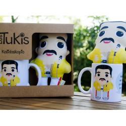 Pack mini cojín + taza Freddie Mercury