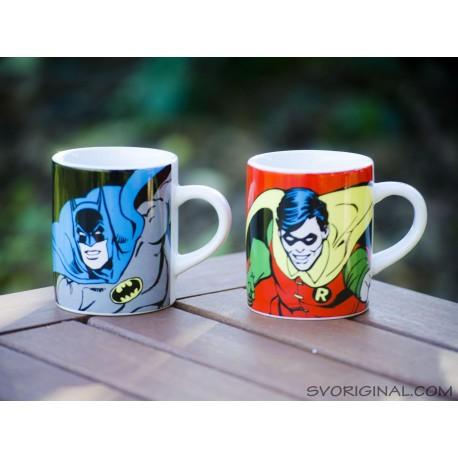 Set 2 minitazas Batman y Robin