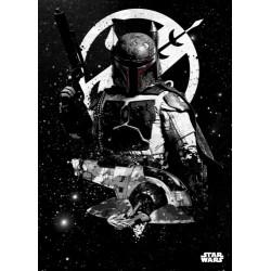 Póster metálico Boba Fett & Slave I Star Wars