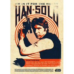 Póster metálico Han Solo Retro Star Wars