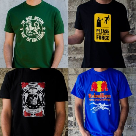 Pack 4 camisetas frikis talla S