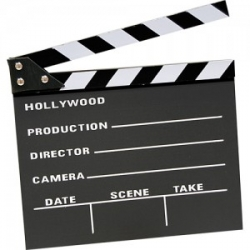Claqueta cine Hollywood grande