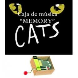Caja de música Memory - Cats