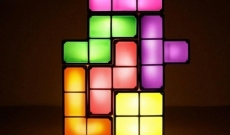 Lámpara Tetris.
